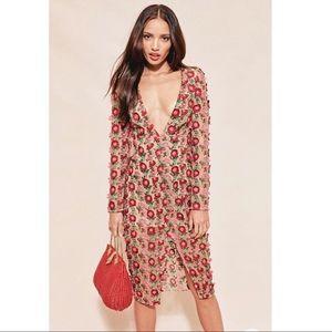 NWOT For Love and Lemons Floral Midi Dress